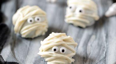 oreo ball mummy halloween recipe