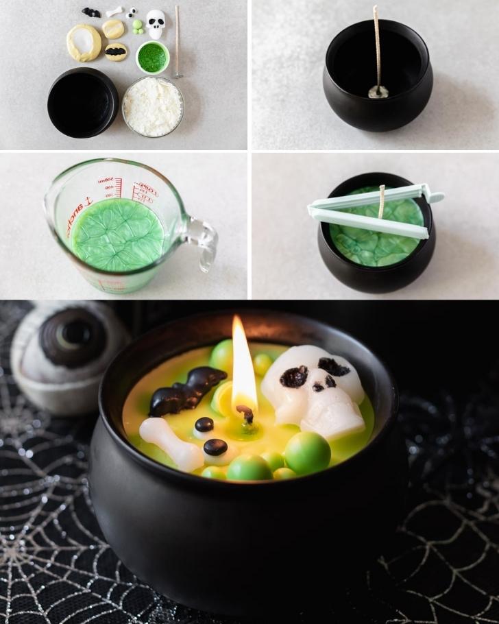 how to make a cauldron candle
